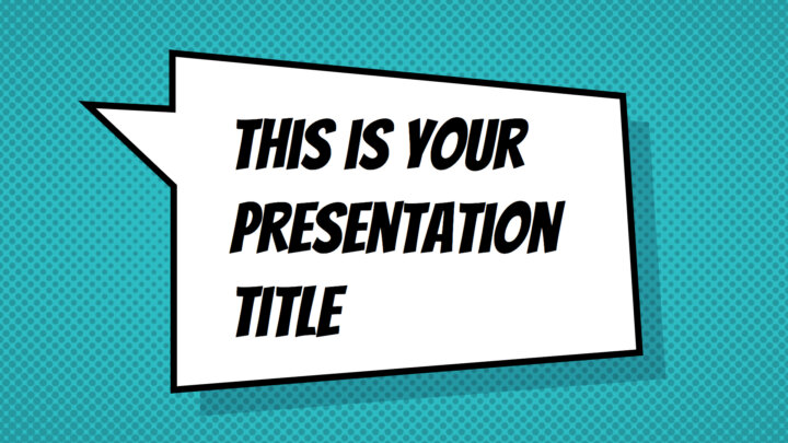 Colorful Comic. Free PowerPoint Template & Google Slides Theme