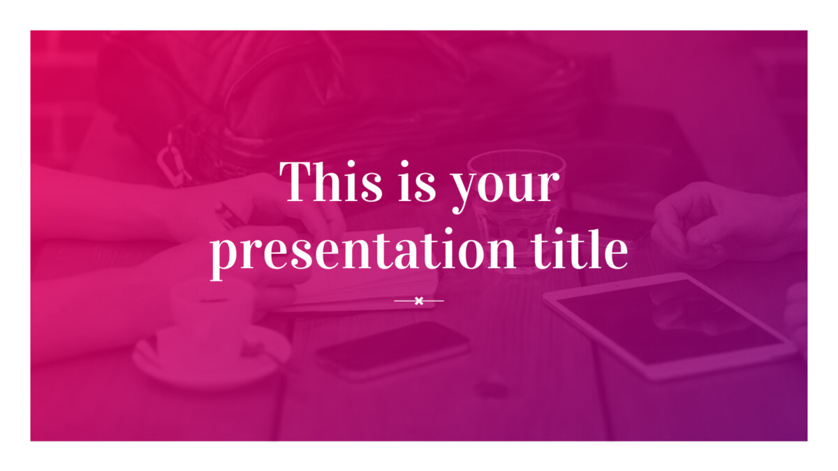 Free modern pink presentation - Powerpoint template or Google Slides theme
