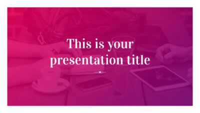 Free modern and bold presentation - Powerpoint template or Google Slides theme