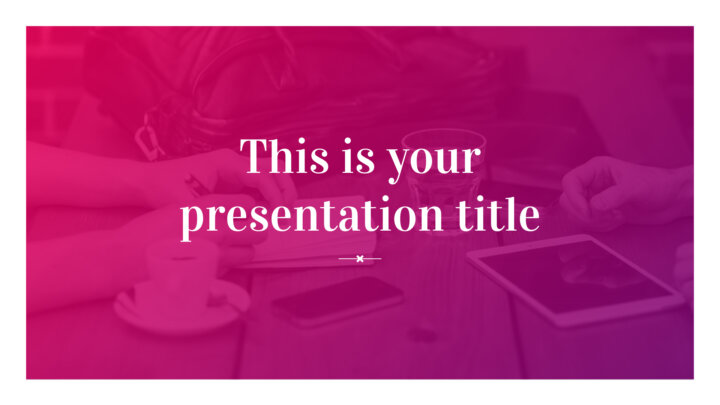 Beautiful Magenta. Free PowerPoint Template & Google Slides Theme