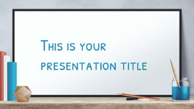 Free education presentation design - Powerpoint template or Google Slides theme with whiteboard