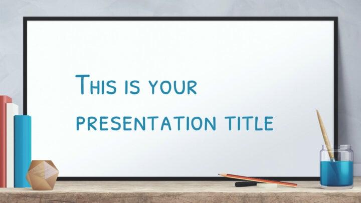 Education Whiteboard. Free PowerPoint Template & Google Slides Theme