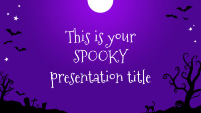 Free Halloween presentation - Powerpoint template or Google Slides theme