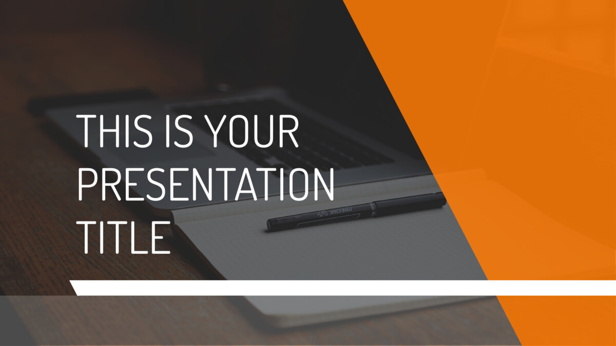 Free modern and simple presentation - Powerpoint template or Google Slides theme