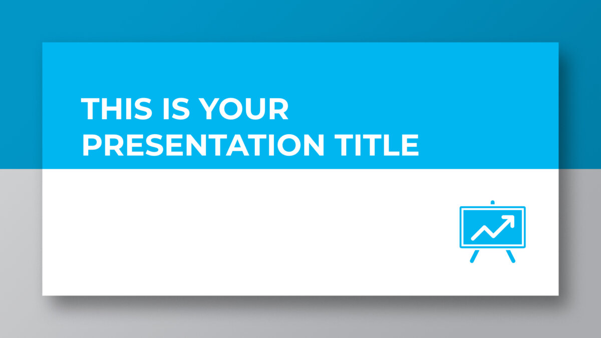 Free professional and corporate blue presentation - Powerpoint template or Google Slides theme