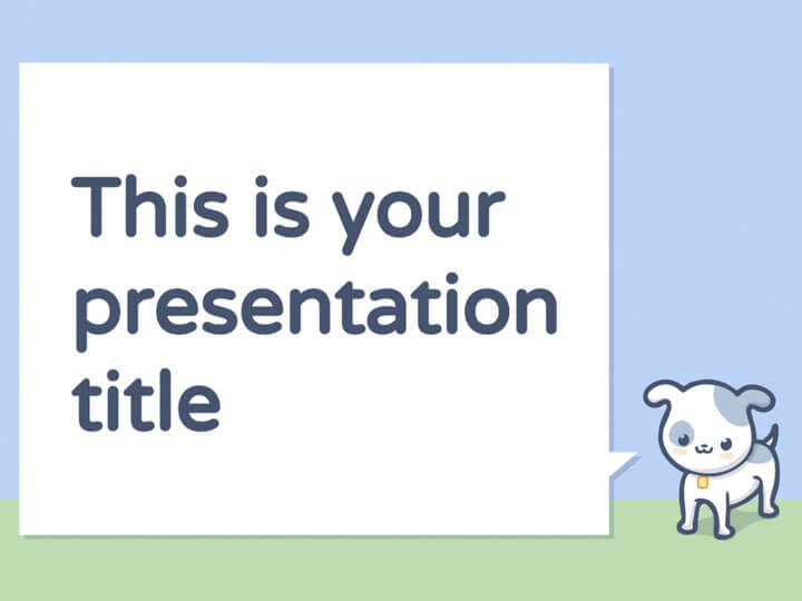 Free presentation template with pets illustrations great for kids toneelgroepblik