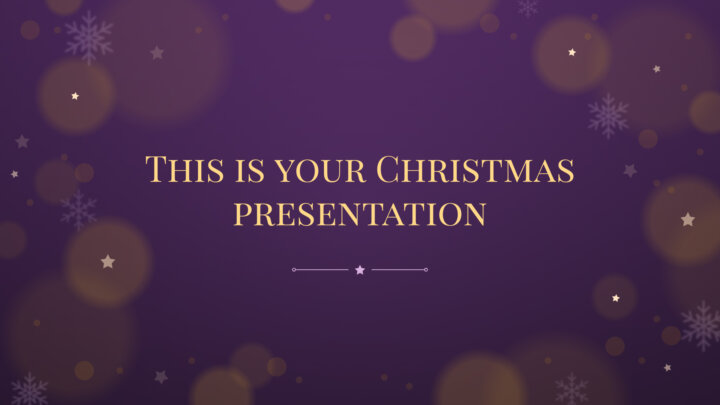 Starry Christmas. Free PowerPoint Template & Google Slides Theme