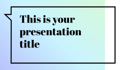 Free modern and elegant presentation - Powerpoint template or Google Slides theme
