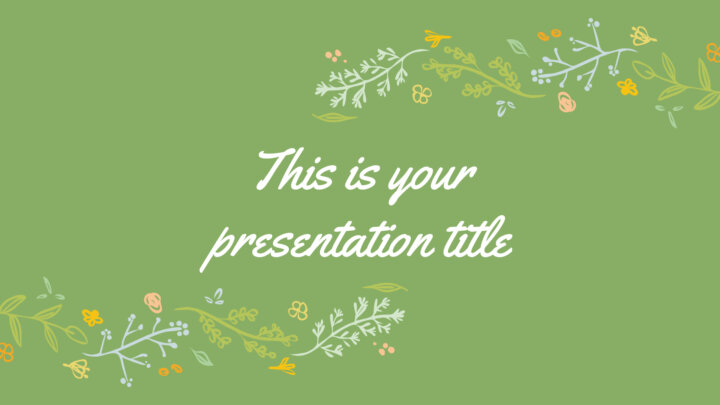 Floral Drawings. Free PowerPoint Template & Google Slides Theme