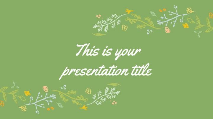 Desenhos florais. Template PowerPoint grátis e tema do Google Slides