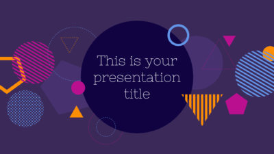 Free modern and bold Powerpoint template or Google Slides theme