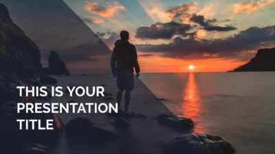Free inspiring Powerpoint template or Google Slides theme with photo backgrounds