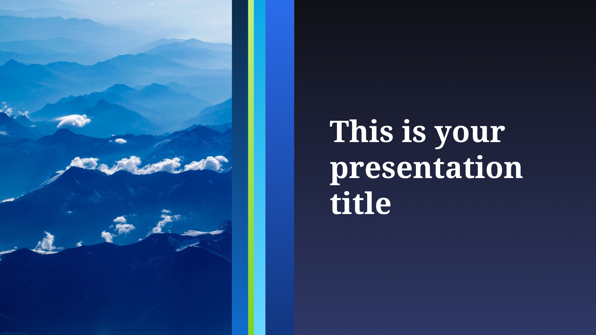 Free professional corporate Powerpoint template or Google Slides theme
