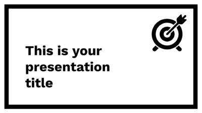 Free simple Powerpoint template or Google Slides theme in black and white