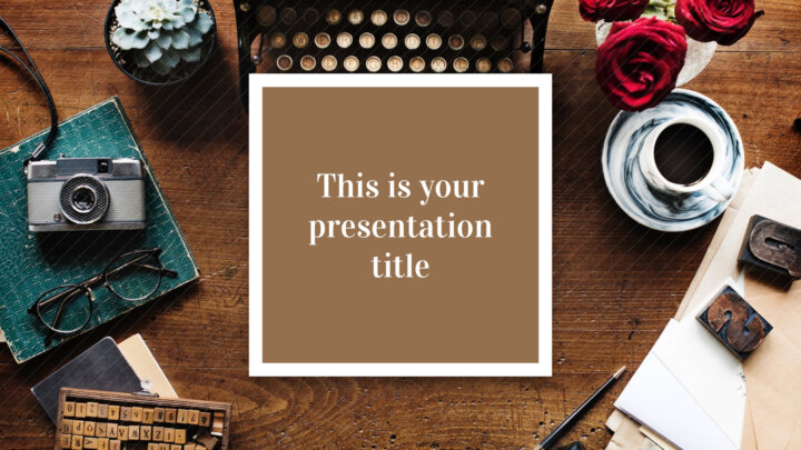 Free classy Powerpoint template or Google Slides theme