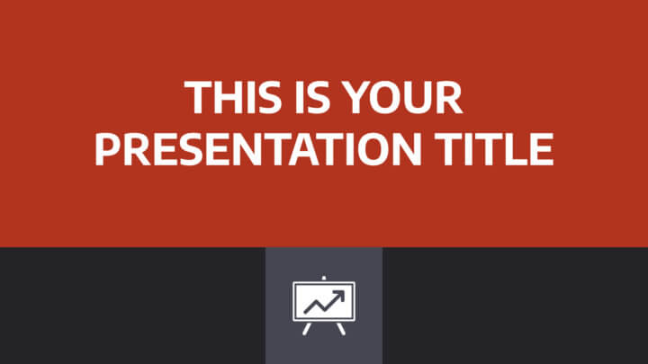 Free simple corporate Powerpoint template or Google Slides theme