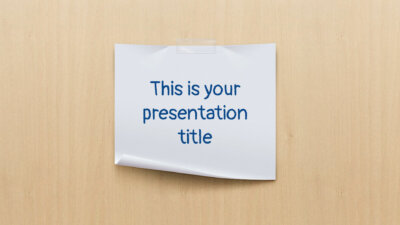 Free wood and paper Powerpoint template or Google Slides theme