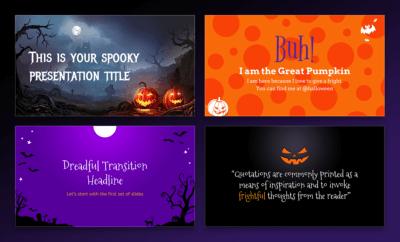 Free Halloween presentation templates