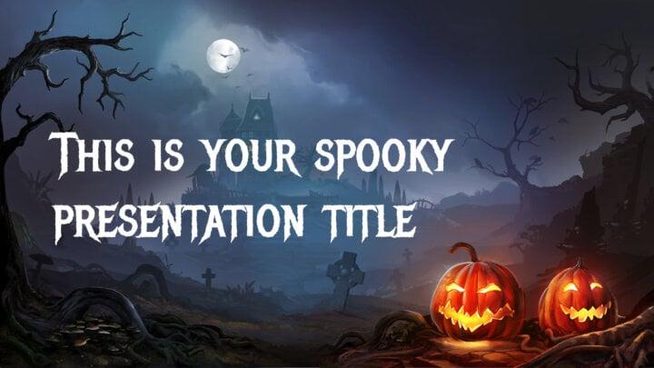 Halloween Casa Encantada. Plantilla PowerPoint gratis y tema de Google Slides