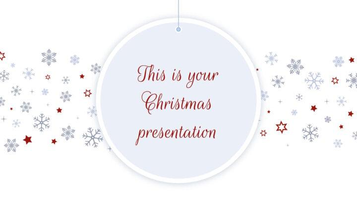 Elegant Christmas. Free PowerPoint Template & Google Slides Theme
