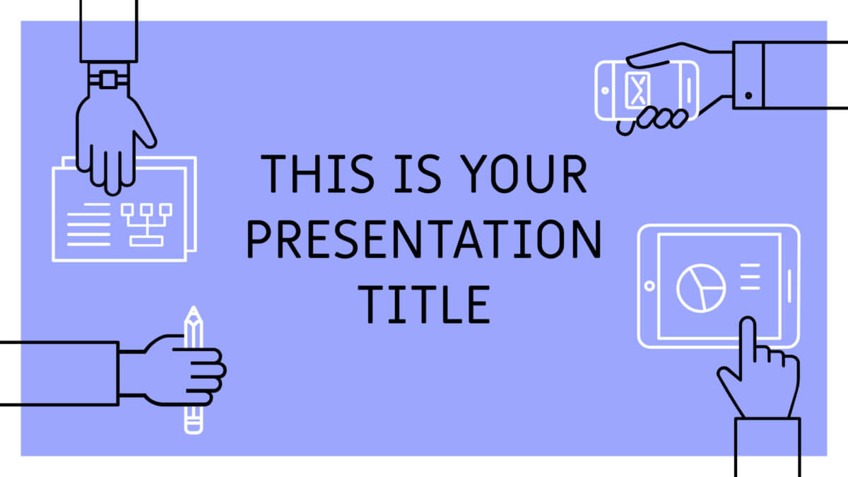 Free Powerpoint template or Google Slides theme with team working icons