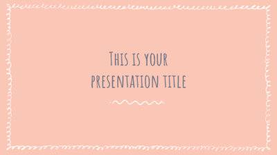 Free Powerpoint template or Google Slides theme with sketchy borders