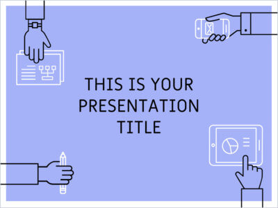 Free Powerpoint template or Google Slides theme with teamwork illustrations