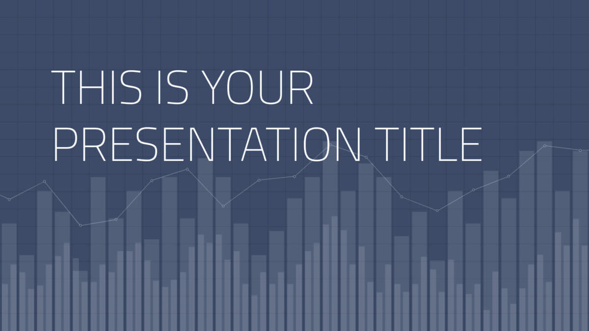 Free Powerpoint template or Google Slides theme with stats and data background