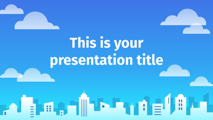 City Skyline. Free PowerPoint Template & Google Slides Theme
