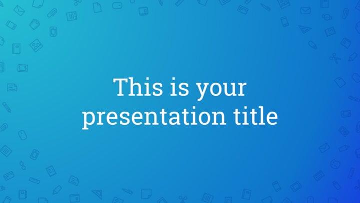 Work Icon Pattern. Free PowerPoint Template & Google Slides Theme