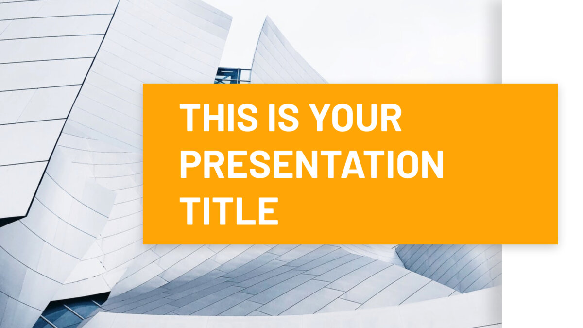 Free Powerpoint template or Google Slides theme minimal with architecture photos