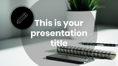 Free Powerpoint template or Google Slides theme with simple design in black and white
