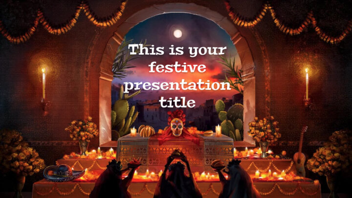 Day of the Dead. Free PowerPoint Template & Google Slides Theme