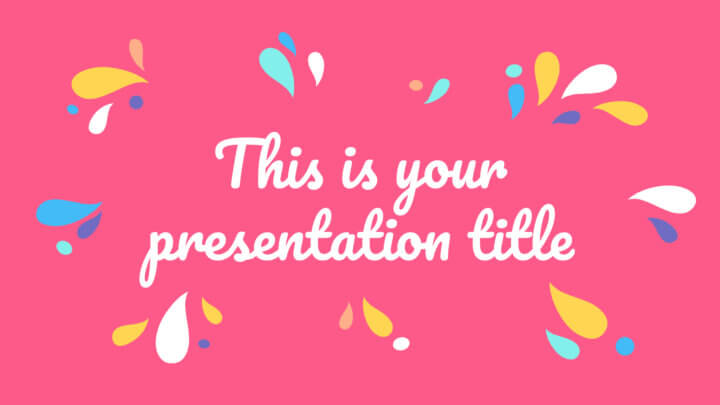 Free colorful Powerpoint template & Google Slides theme with organic shapes
