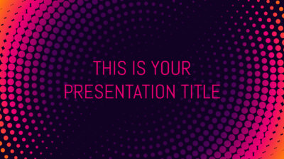 Free modern Powerpoint template or Google Slides theme simple with bright colors