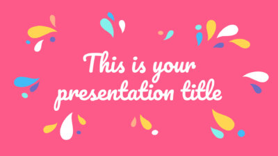 Free Powerpoint template or Google Slides theme with colorful organic shapes