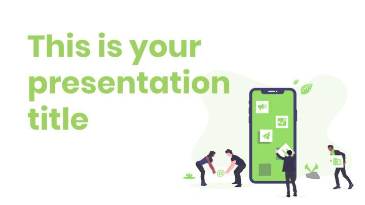 Marketing Verde. Plantilla PowerPoint gratis y tema de Google Slides