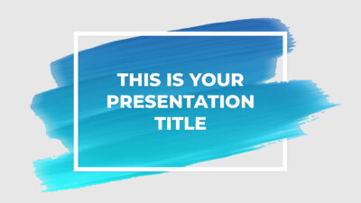 Free artsy Powerpoint template or Google Slides theme