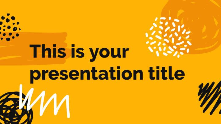 Scribbles Criativos. Template PowerPoint grátis e tema do Google Slides