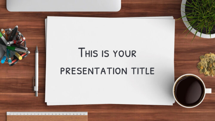 Photographic Desk. Free PowerPoint Template & Google Slides Theme