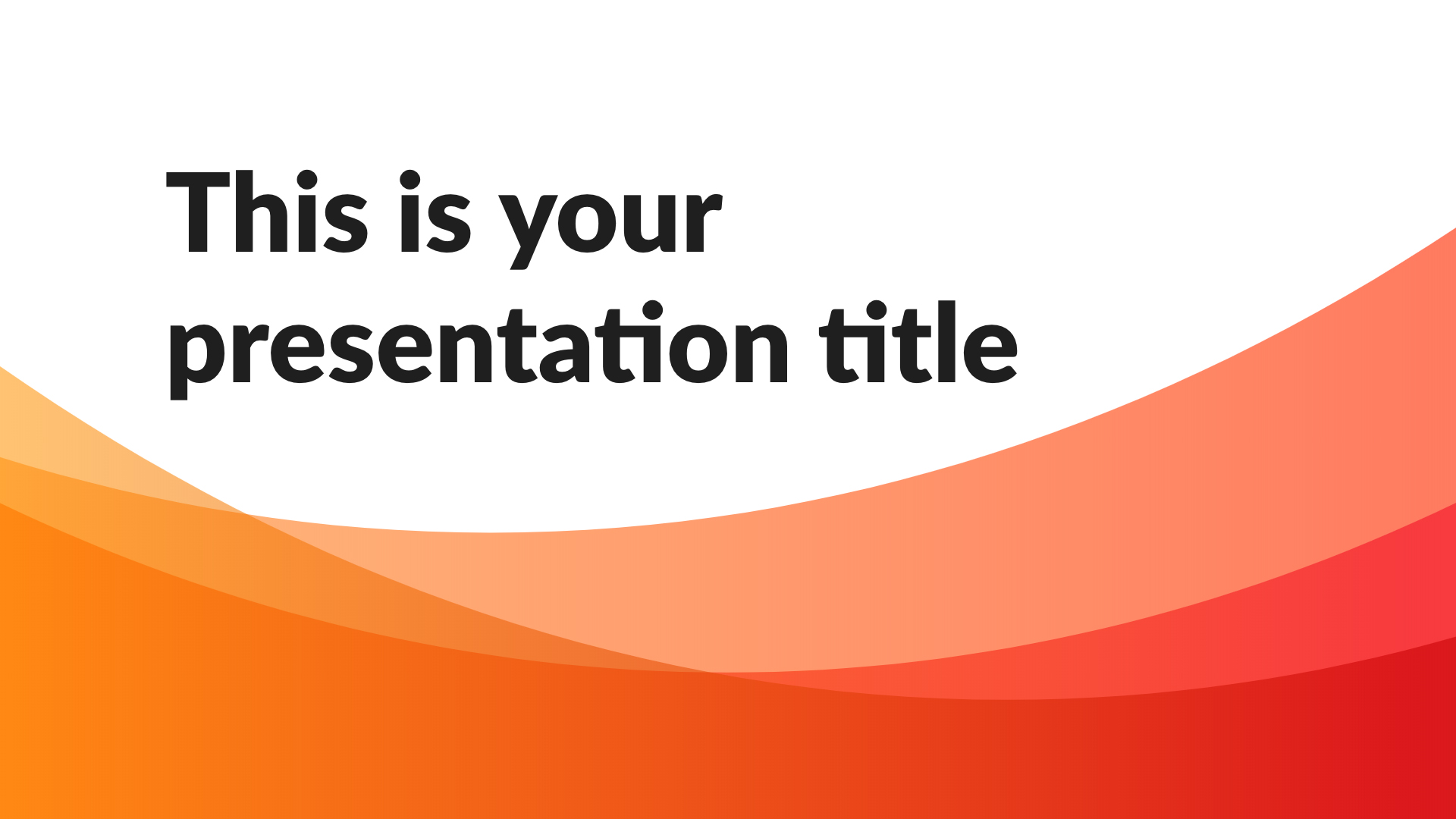 Free Powerpoint template or Google Slides theme with dynamic waves