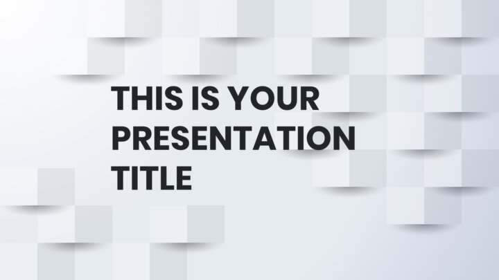 Geometric White Business. Free PowerPoint Template & Google Slides Theme