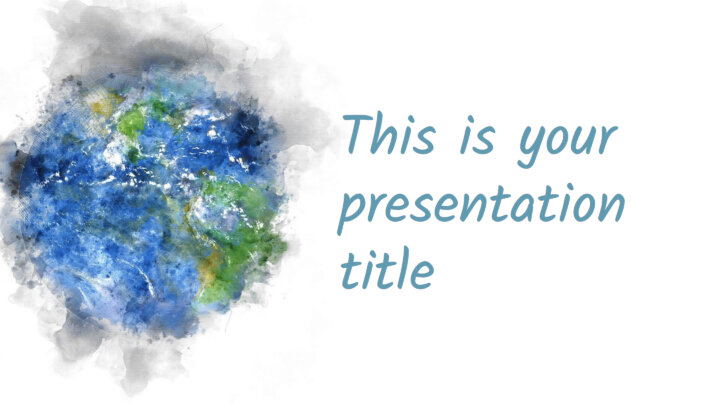 Nature Watercolors. Free PowerPoint Template & Google Slides Theme