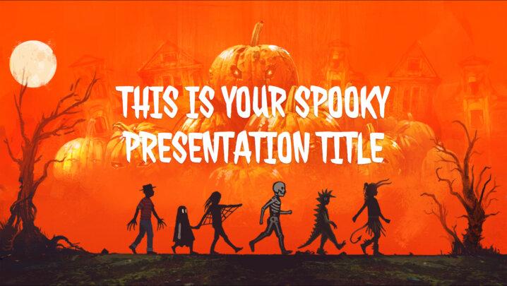 Halloween Trick or Treat. Free PowerPoint Template & Google Slides Theme