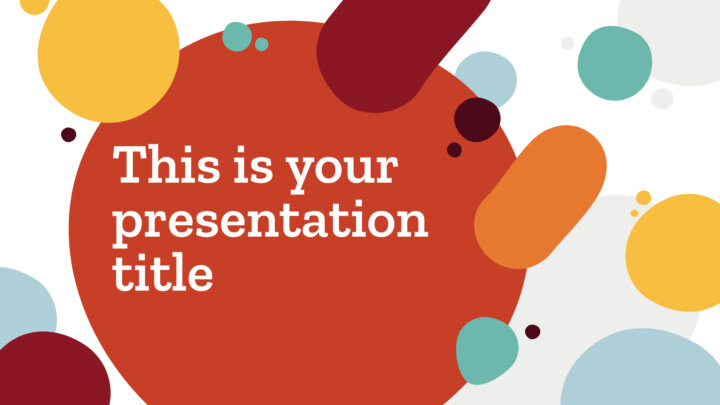 Manchas Criativas. Template PowerPoint grátis e tema do Google Slides