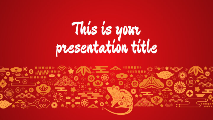 Chinese New Year (The Rat). Free PowerPoint Template & Google Slides Theme