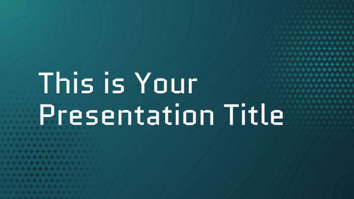 Free tech Powerpoint template or Google Slides theme with contour lines
