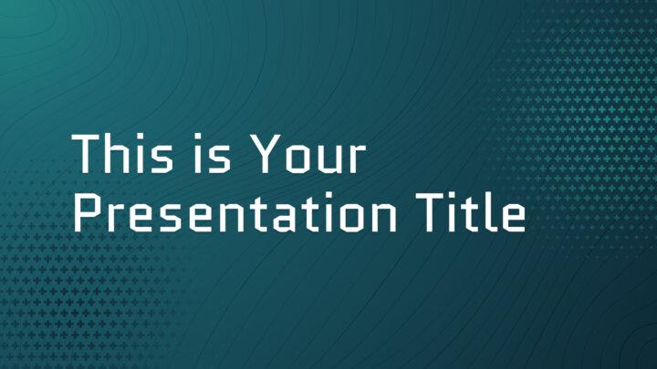 Curvas de Nível Tech. Template PowerPoint grátis e tema do Google Slides