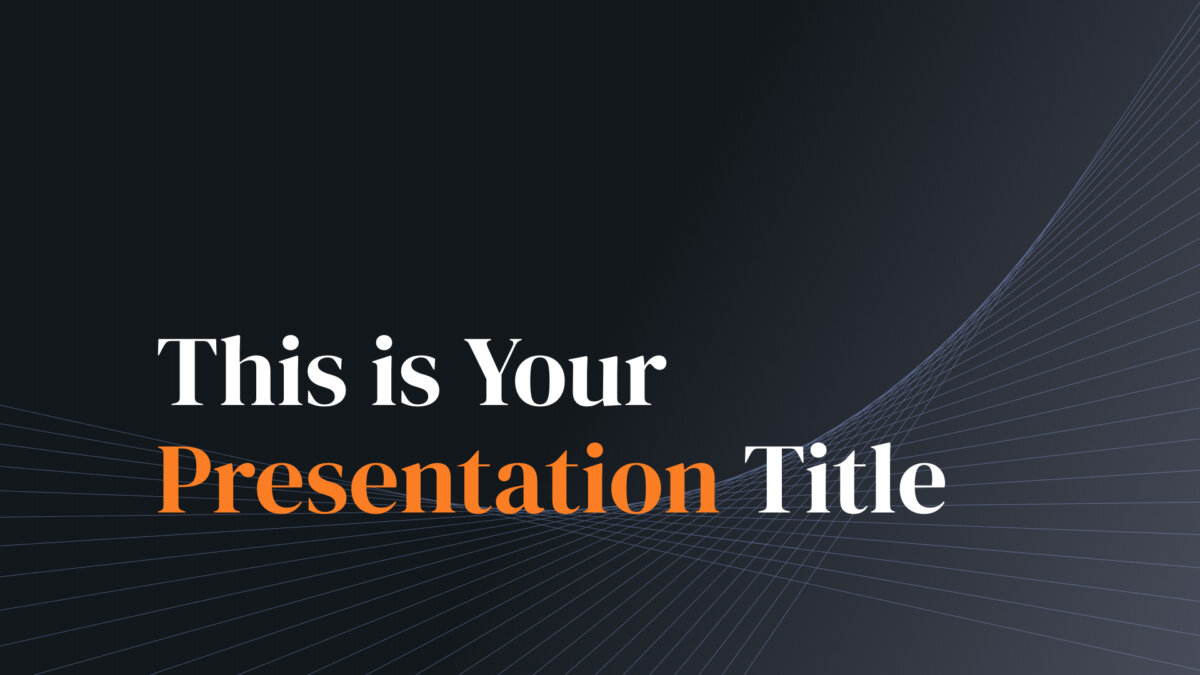 Free business Powerpoint template or Google Slides theme with dark background