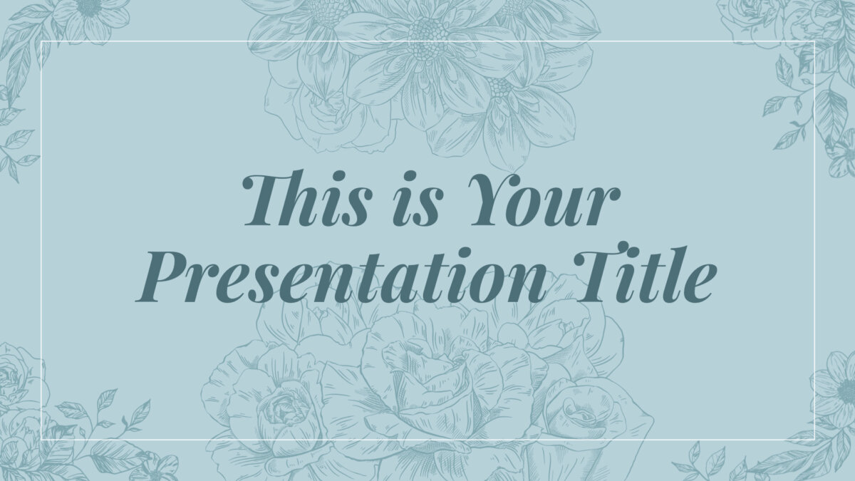 Free elegant Powerpoint template or Google Slides theme with flowers